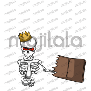 King bone - Animated sticker set.  Here to share your thoughts in a convenient way.  16 animated stickers