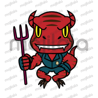 Put a bite in your text messages with Raptor Cop Animated Stickers