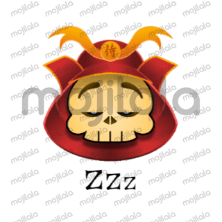 Once upon a time he was a great warrior, now he's just an ancient skull! :) Have fun with him!
