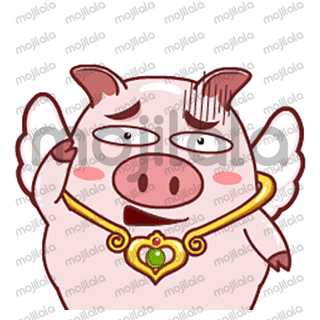 Be angelic and divine like Gabby as he brings you the holiness from heaven down to all of your messaging platforms in any device. This winged pig will fill your conversation with cuteness as he expresses his emotion through his actions. An angel that will spare the heart of anyone who receives it as a Gif sticker in a message.