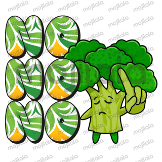 Collection of animated big letter with cute vegetable & fruit characters for your daily chat.