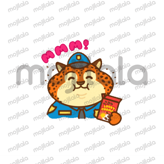 These are fun animated animal stickers!