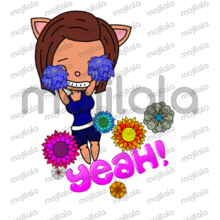 Share this cute package of animated stickers.  Set of 10 Stickers :D