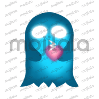 His good heart shines in the dark! :) Have fun with him! Cute Heart Glowing Ghost animated stickers.