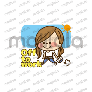 Stickers for working cute girls. You can use them in normal day-to-day conversations with family and friends.