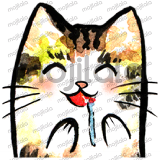 Cute cats with watercolor