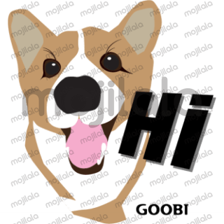 This is my dog name Goobi, he is 10 years old and most of the stickers are base on his day life.