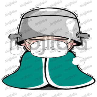 Soy is grumpy wannabe soldier wearing a huge cooking pot on his head so he can fight through whatever life throws at him.