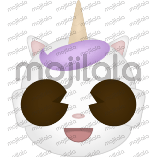This is Youni, a cat unicorn or an unicorn cat.