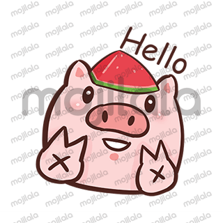Life is fantastic.Watermelon pig likes summer! Copyright©muxuart All rights reserved