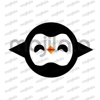 An illustrated character which name is Pinguey emojis.