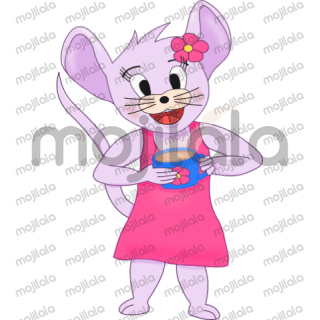 Lili is here! She is super cute, little mouse.