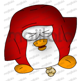 Cute penguin sticker set.  Vibrant red Penguin Pengy shares his emotions.  Please share :D