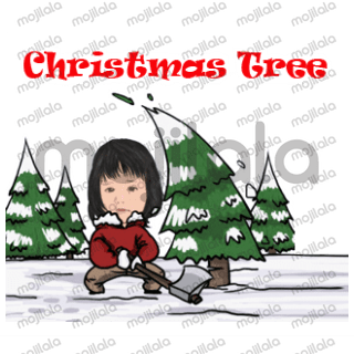 funny and cute christmast and new year stickers