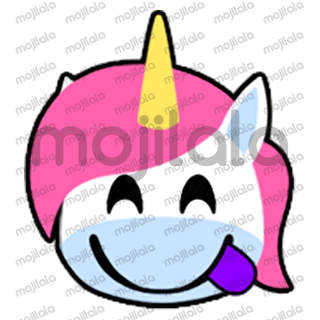 80 emojis of cute little unicorn! :) Have fun with them!