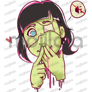 She's Sarah Mobiet! A zombie girl with sailor fuku! She likes brains and U!
