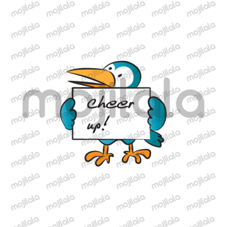 Toucan and cat, puppy, rabbit, giraffe holding the card
