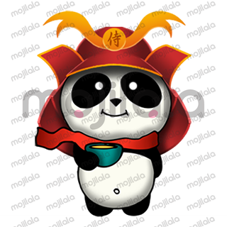 Born in China, raised in Japan... A Panda, Samurai Panda! :) Very cute! Have fun with him!