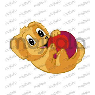 Say it to your friends with a cute and cuddly Kawaii Puppy sticker!