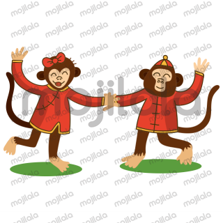 This is a funny prank monkey sticker pack.