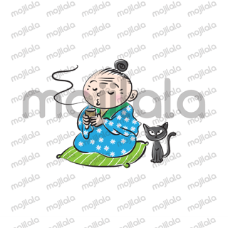 Cute grandmother happy every day