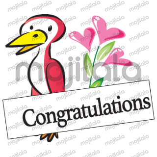 flowers and bird greeting card for you