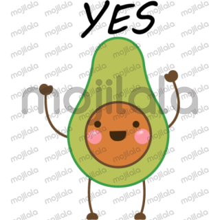 Lover Avocado? This Cute Avocado sticker pack lets you impress your Friends and your Love one!