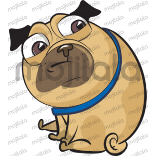 Add more emotion to your text with Funny Pug Stickers.