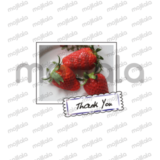 Fruit photo with greeting card