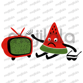 A funny watermelon character with unique expressions and habits ;)