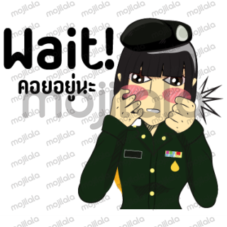 Sticker Cartoon images of lady Police.