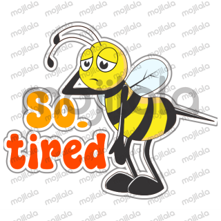 This is a funny Bee sticker pack. Many type of expressions is in here.