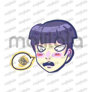 Expressive and cute stickers of shigeo kageyama from mob psycho 100 !