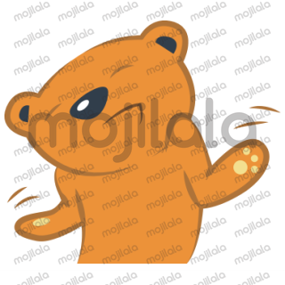 A package with 17 stikers illustrating a cute and funny bear