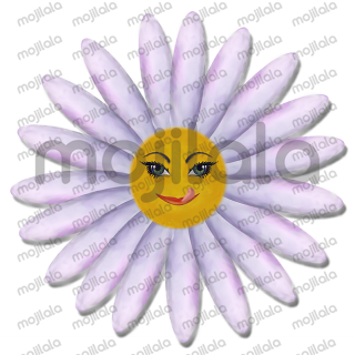 emojis created as daisys which describes an emotion