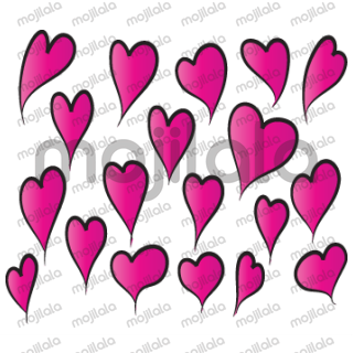 so many kind of heart shape greeting card