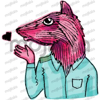 rat with body a man with a rat head cheerful resourceful, not an ordinary illustration, modern art