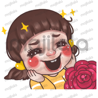 """Juno """"In love """" series. Let sent lovely sticker to people you loved."""