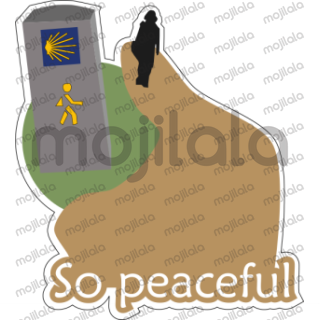 Let your friends and other pilgrims know about your whereabouts and pilgrim feelings! Boost your sticker package with additional stickers available in Buen Camino Peregrino package.