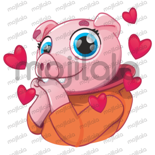 cosmonaut pig pink   cheerful piggy, in a walking martian suit, kisses love and positive emotions