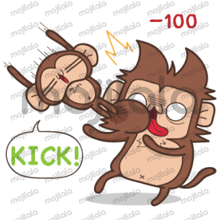 Juppy the Monkey sticker collection.