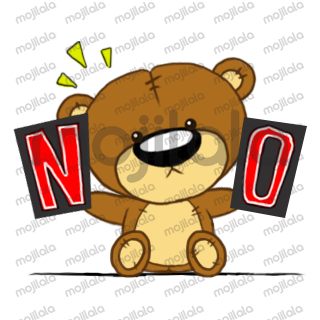 Express your feelings in your messages with these fun and cute stickers featuring Yoshi the Bear.