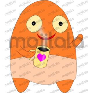 cute adorable orange charakter for all