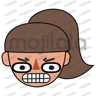 Stickers showing different facial expressions.