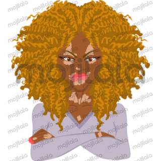 Curlmojis - Blonde is for the curl enthusiasts with blonde hair.