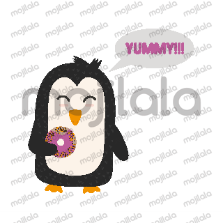 Cute Penguins Animal Stickers penguin, cartoon, animal, cute, winter, bird, character, happy, nature, funny, wildlife, children, fun, baby, love, holiday, santa