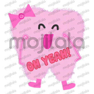 Cute Pink Molar Tooth stickers
