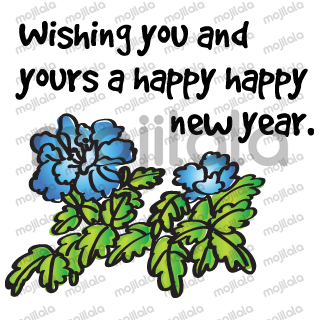 Greetings card with Chinese painting flowers
