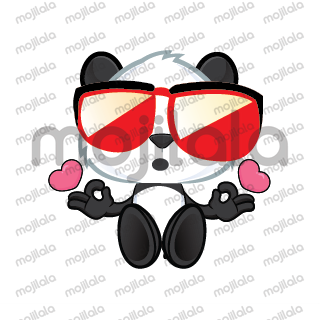 When a cool Panda looking for love
