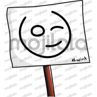 Signboard emoticon.  Silently share your emotions with the Signboard emoticon.  set of 20 emoticons.  This is too cute to miss out on! please Share for more!!!